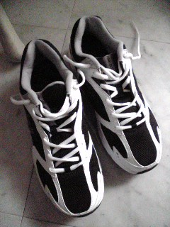 靴を新しくしました。